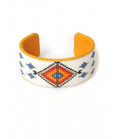 Beaded bracelet by Francisco Bailon (Navajo)