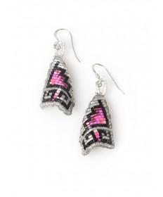 Beaded earrings by Mardy Teller (Navajo)