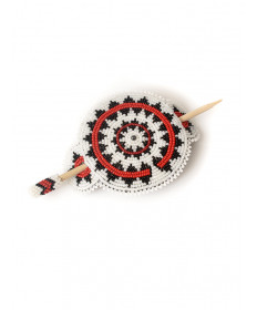 Beaded hair piece by an unknown artist (Navajo)