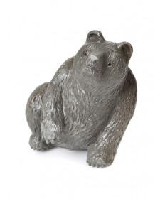 Bear fetish carving by Fred Bowannie (Zuni)