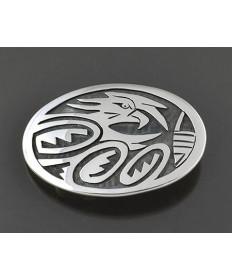 Silver Overlay Belt Buckle by Fermin Hawee (Hopi)