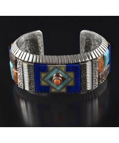 Sterling Silver Multi-Stone Bracelet by Osavio Crespin (Santo Domingo)