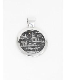 Sterling Silver Pendant by Cody Hunter (Navajo)
