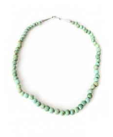 Turquoise necklace by Lester Abeyta (Santo Domingo)