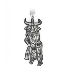 Sterling Silver Pendant by Bennett Kagenveama (Hopi)