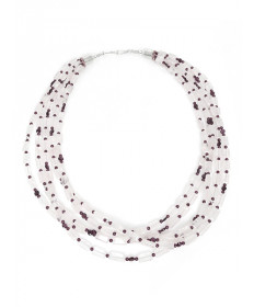 Crystal & Garnet Necklace by Colina Yazzie (Navajo)