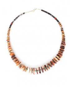 Tigers Paw shell necklace by Mary Teller (Navajo)