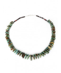Turquoise Heishi Necklace by Mary Teller (Navajo)