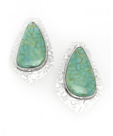 Turquoise Earrings by Mary Teller (Navajo)