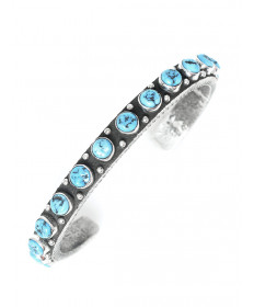Turquoise bracelet by Ernest Rangel (Navajo)
