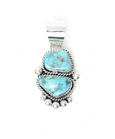 Sterling Silver & Turquoise Pendant by Veronica Yellowhorse (Navajo)