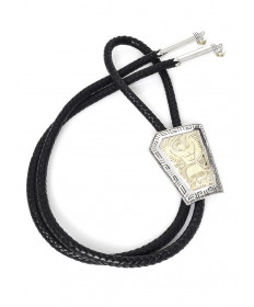 Sterling Silver & 14K Bolo Tie by Robert Taylor (Navajo)