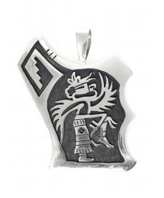 Sterling silver pendant by Louie Josytewa (Hopi)