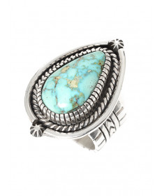 Turquoise ring by Larry Joe (Navajo)