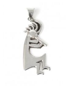 Kokopelli pendant by Alvin Thompson (Navajo)