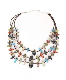 Fetish necklace by Nancy Westika (Zuni)