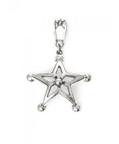 Sterling silver star pendant by Edward Charlie (Navajo)
