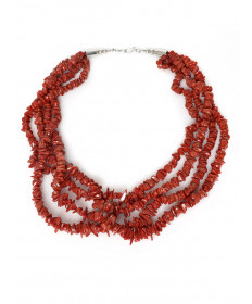 4-strand coral necklace by Colina Yazzie (Navajo)