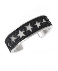 Stainless steel bracelet with shark skin by Pat Pruitt (Laguna)