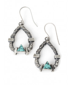 Sterling silver & turquoise earrings by Ronnie Henry (Navajo)