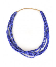 6-strand lapis necklace by Lester Abeyta (Santo Domingo)