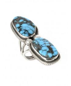 Morenci turquoise ring by Rick Martinez (Navajo)