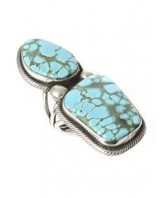 Royston turquoise ring by Rick Martinez (Navajo)