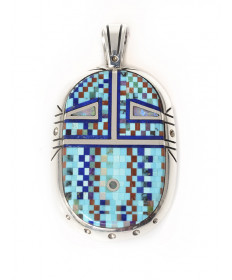 Micro-inlay pendant by Tom Baldwin (Navajo)