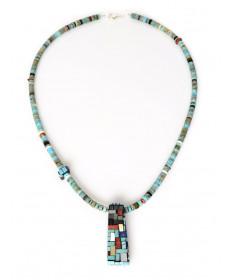 Multi-stone turquoise necklace by Charlene Reano (San Felipe)