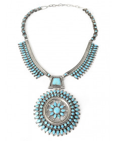 Turquoise necklace by Victor Begay (Navajo)