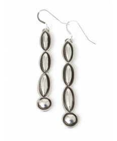 Sterling silver earrings by Alex Sanchez (Navajo)