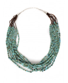 10-strand turquoise necklace by Mardy Teller (Navajo)