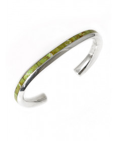 Oynx bracelet by T. Natachu (Zuni)
