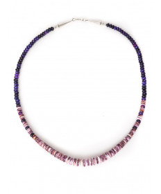 Sugilite & spiny oyster shell necklace by Raynard Lalo (Hopi)