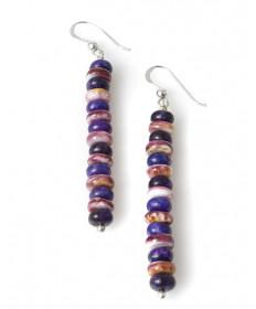 Sugilite & shell earrings by Raynard Lalo (Hopi)
