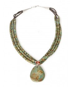 Turquoise necklace by Lita Atencio (Santo Domingo)