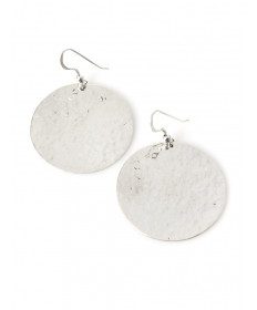 Sterling silver earrings by Veronica Thompson (Navajo)