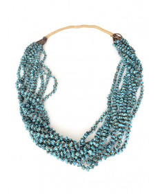 10-strand turquoise necklace by Lester Abeyta (Santo Domingo)