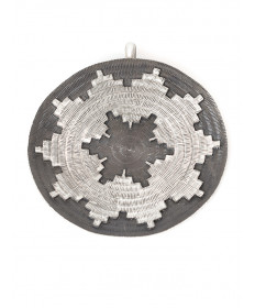 Sterling silver basket pendant (large) by Roland Begay (Navajo)