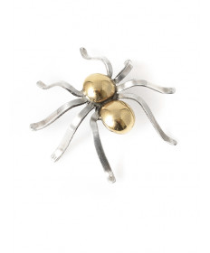 14K & sterling silver spider pin by Cippy Crazyhorse (Cochiti)