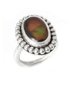 Meixcan opal ring by Glenda Loretto (Jemez)