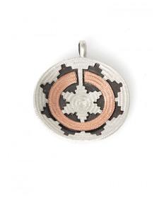 "1"" wedding basket pendant by Roland Begay (Navajo)"