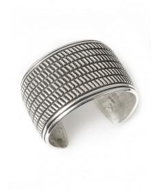 Sterling silver bracelet by Cippy Crazyhorse (Cochiti)