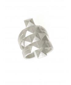 Sterling silver pyramid ring by Maria Samora (Taos)