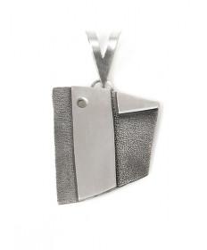 Sterling silver pottery shard pendant by Mark Stevens (Laguna)