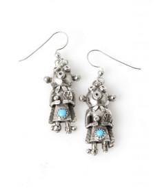 Mudhead earrings by Toby Henderson (Navajo)