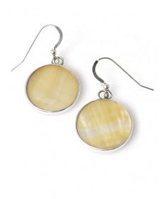 Mother of pearl earrings by Alton Joe (Navajo)