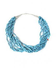 10-strand Sleeping Beauty turquoise neckalce by Howard Sice (Hopi/Laguna)