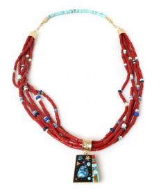 5-strand multi-stone necklace by Boyd Tsosie (Navajo)