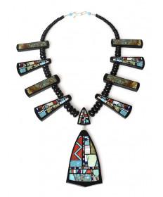 Multi-stone beaded necklace by Chris Nieto (Santo Domingo)